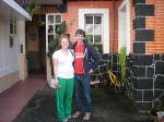 Jake and I at the hostal in Ban~os